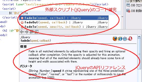 外部スクリプトの利用HTML内